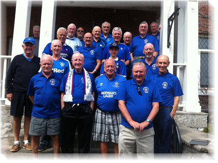 Members of the Cobourg Rangers Supporters Club